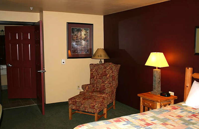 Guest room at Three Bears Lodge.