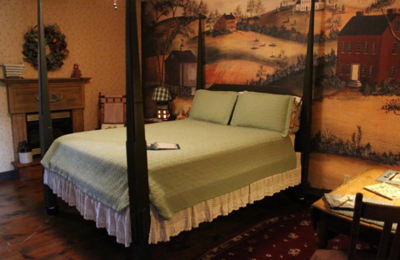 Guest room at Narrows Creek Inn.
