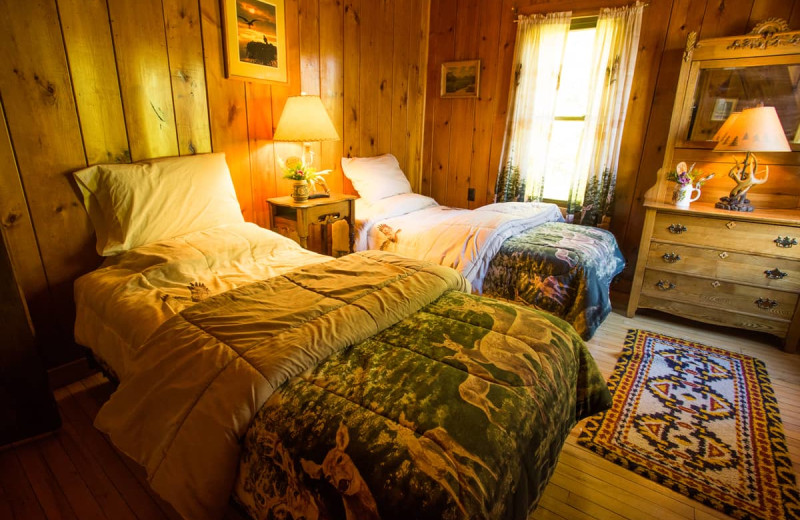 Guest bedroom at Lake Clear Lodge & Retreat.
