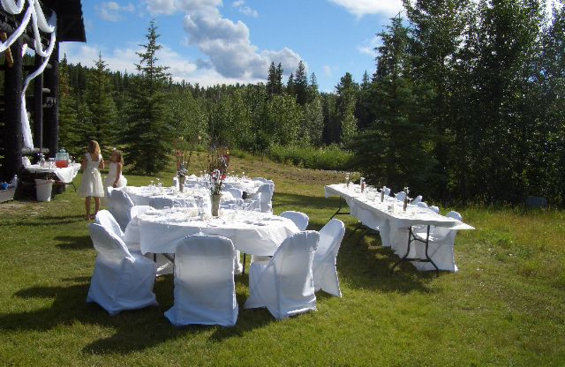 Wedding reception at Rising Wolf Ranch.