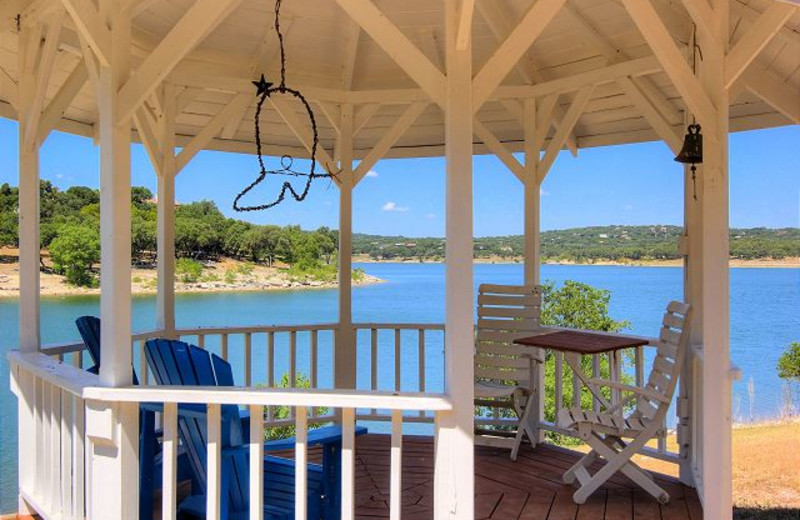 Rental gazebo at New Braunfels Escapes.