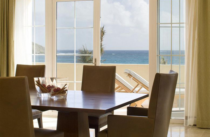 Guest dining table at The Westin Dawn Beach Resort & Spa.