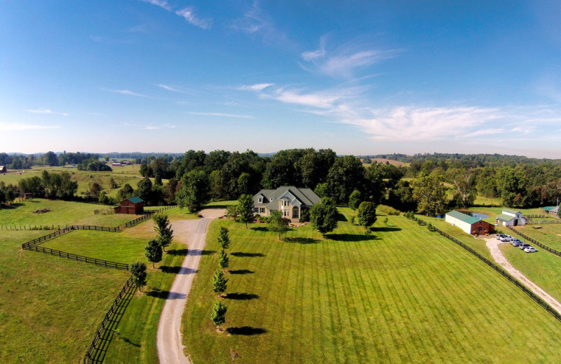 Aerial view of Southern Grace Bed & Breakfast.