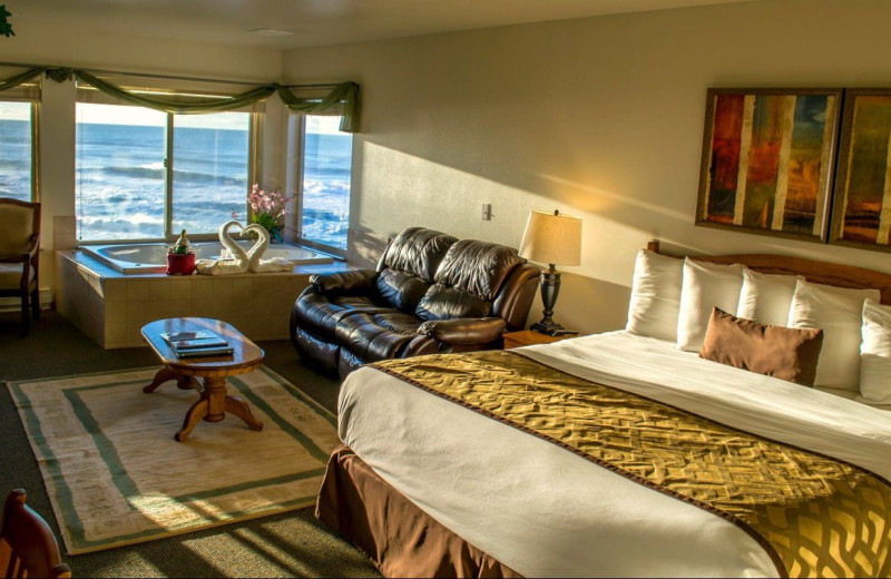 Jacuzzi room at Adobe Resort.