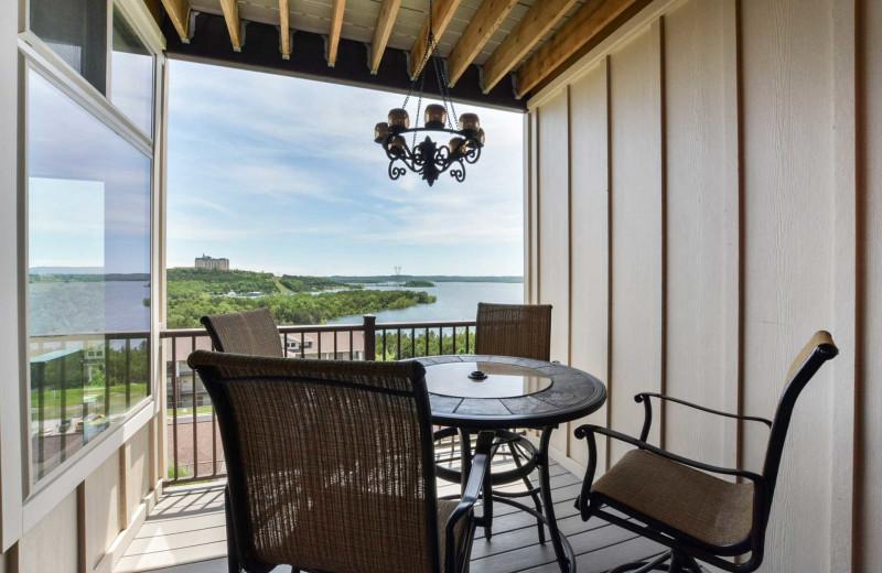 Rental balcony at Branson Vacation Rentals.