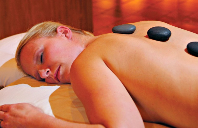 Hot stone massage at Minerals Hotel.