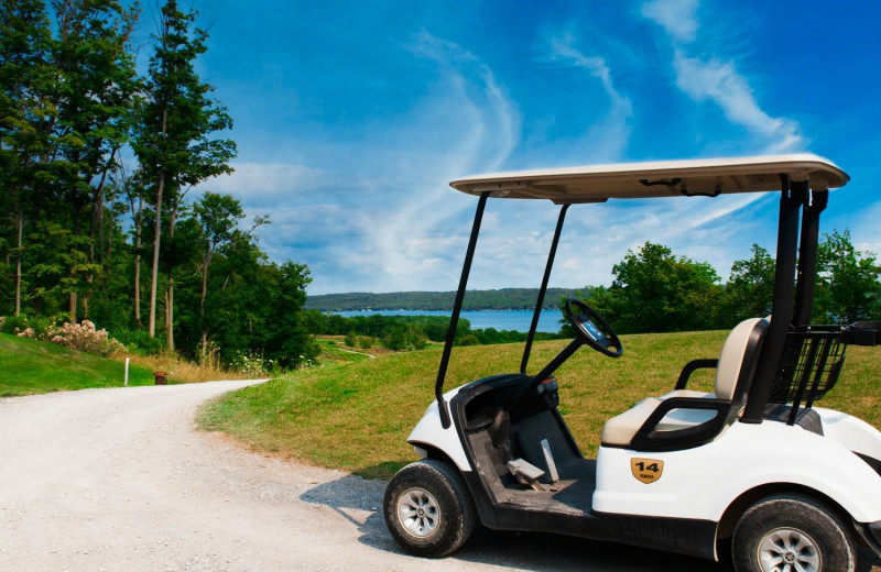 Golf cart at Great Blue Resorts- Bellmere Winds Resort.