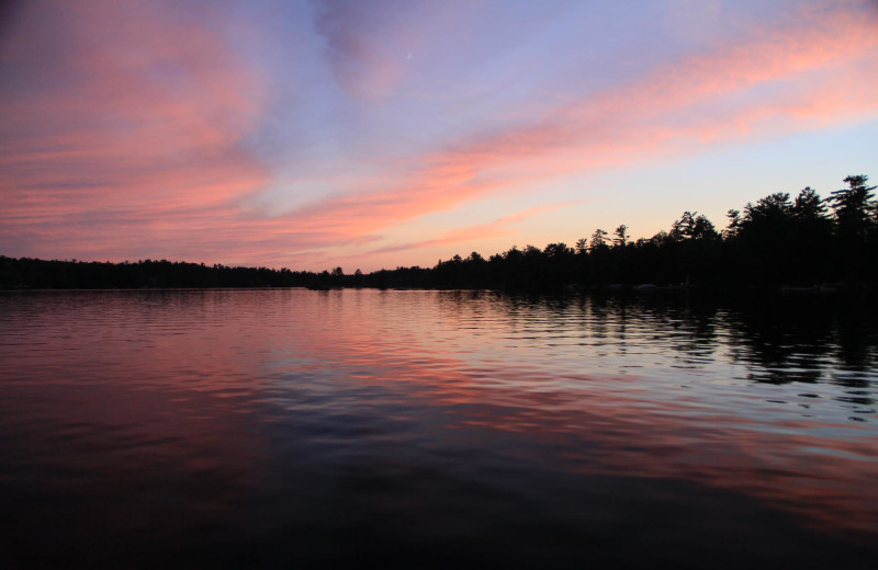 Sunrise at Westwind Inn on the Lake.