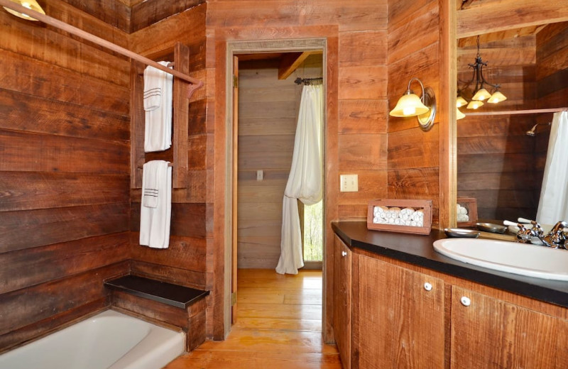 Rental bathroom at Premier Vacation Rentals.
