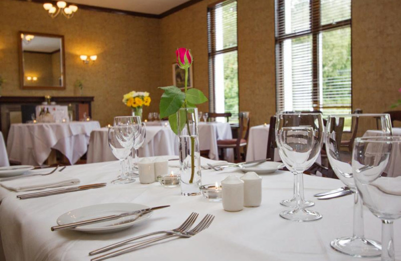 Dining at Skeabost House Hotel.