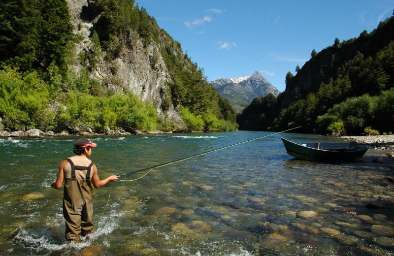 Fishing at Rio Palena Lodge.
