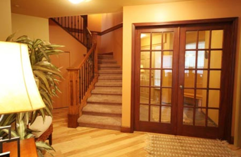 Rental stairs at Acer Vacation Rentals Ltd.