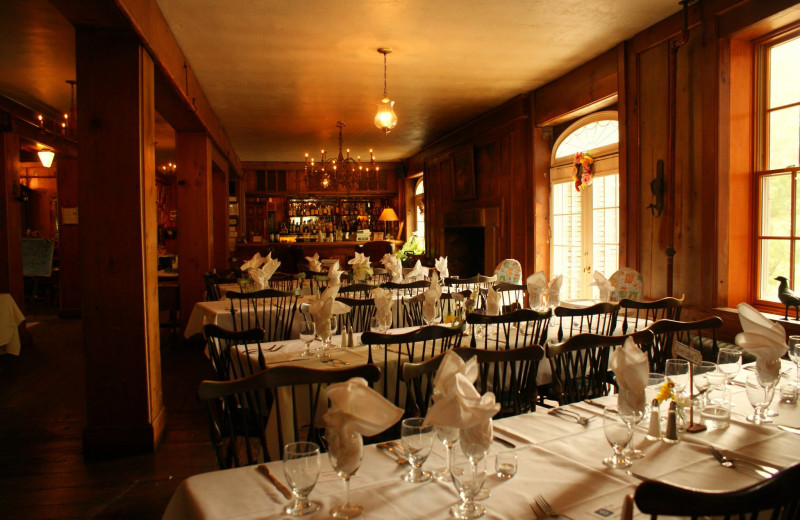 Dining room at The Outing Lodge at Pine Point.