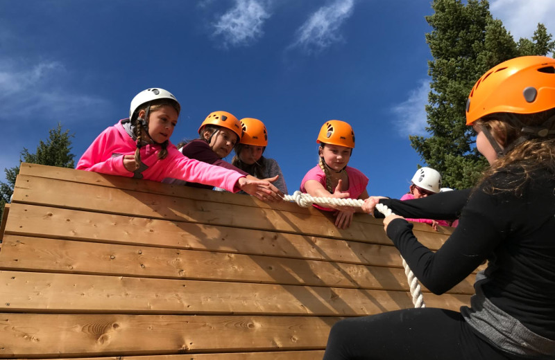 Obstacle course at Myra Canyon.