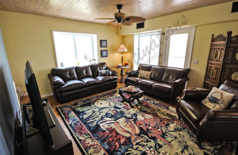 Rental living room at Resort Destinations.