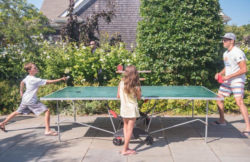 Ping pong at Winnetu Oceanside Resort.