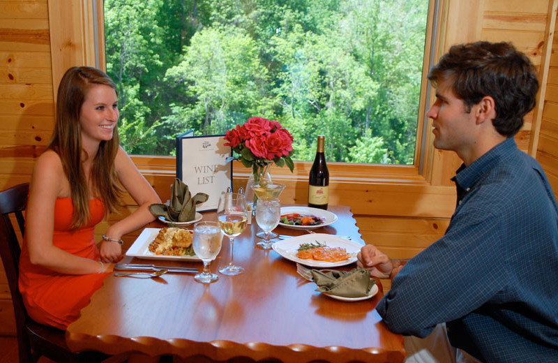 Couple dining at House Mountain Inn.