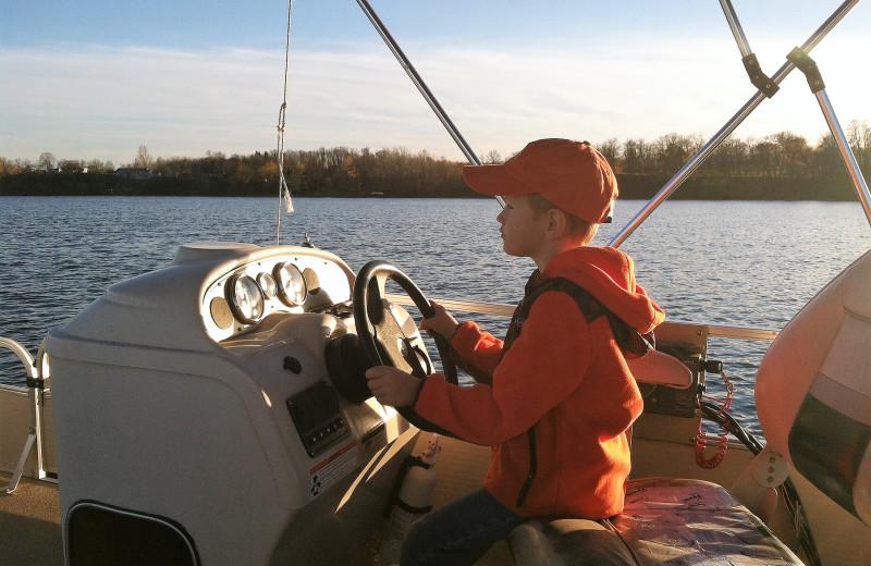 Boating at Brophy Lake Resort.