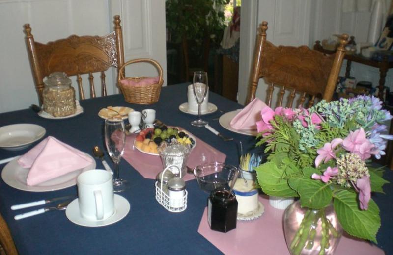 Breakfast at A Victorian Garden Inn.