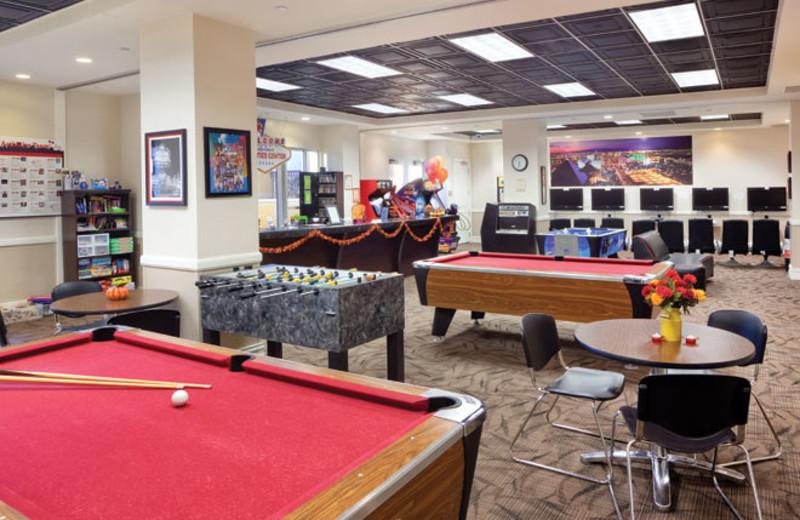 Recreation room at Wyndham Grand Desert.