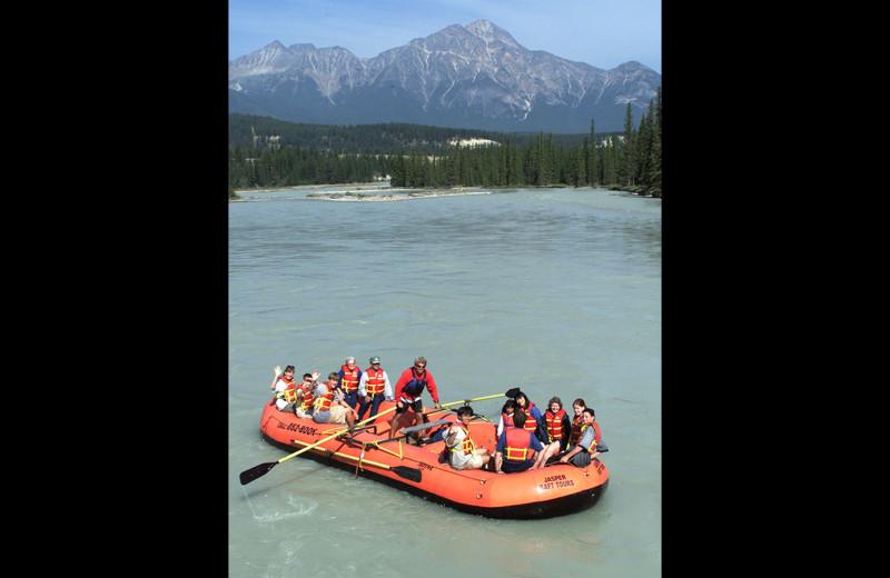 Rafting at Gingerbread Cabin.