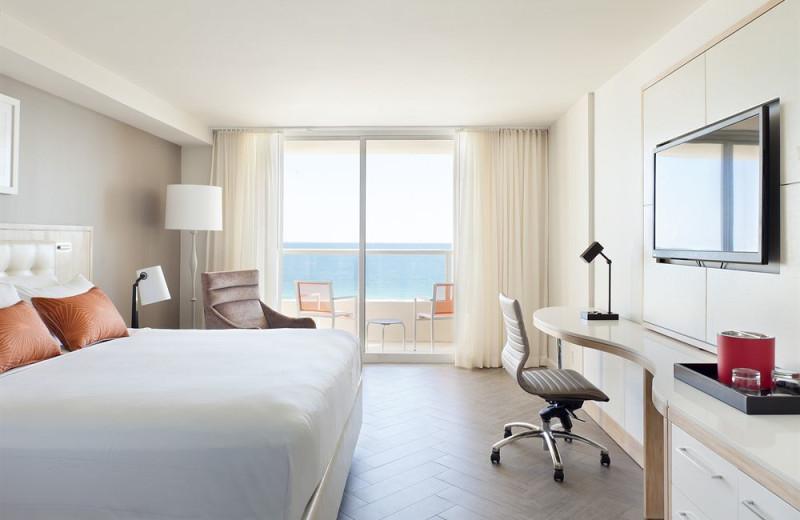 Guest room at Miami Beach Marriott at South Beach.