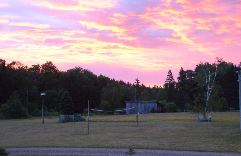 Sunrise at Jackson's Lodge and Log Cabin Village.