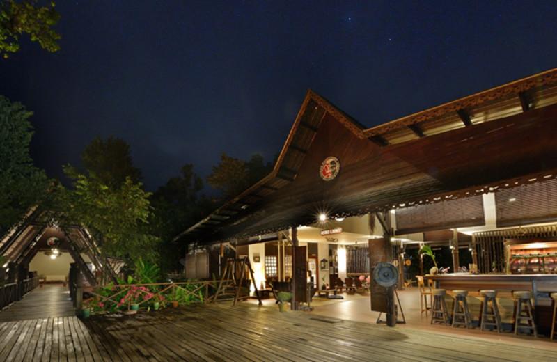 Exterior view of Sukau Rainforest Lodge.