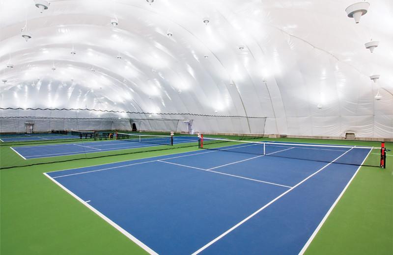 Tennis court at Turning Stone Resort Casino.