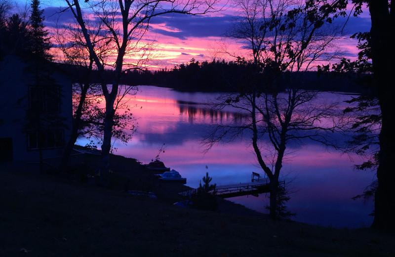 Sunset at Hanging Horn Lakeside Resort.