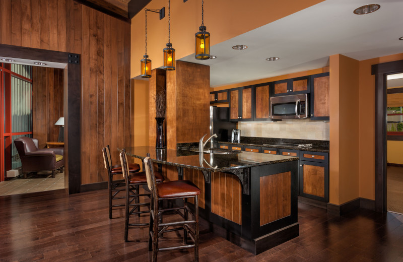 Guest kitchen at Bear Creek Mountain Resort.