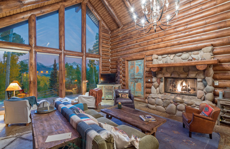 Rental living room at Accommodations in Telluride.