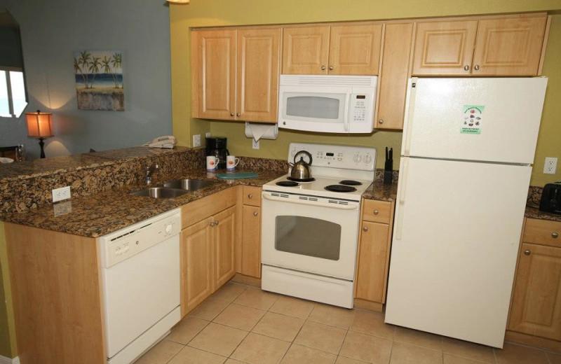 Rental kitchen at Sunsational Beach Rentals. LLC.