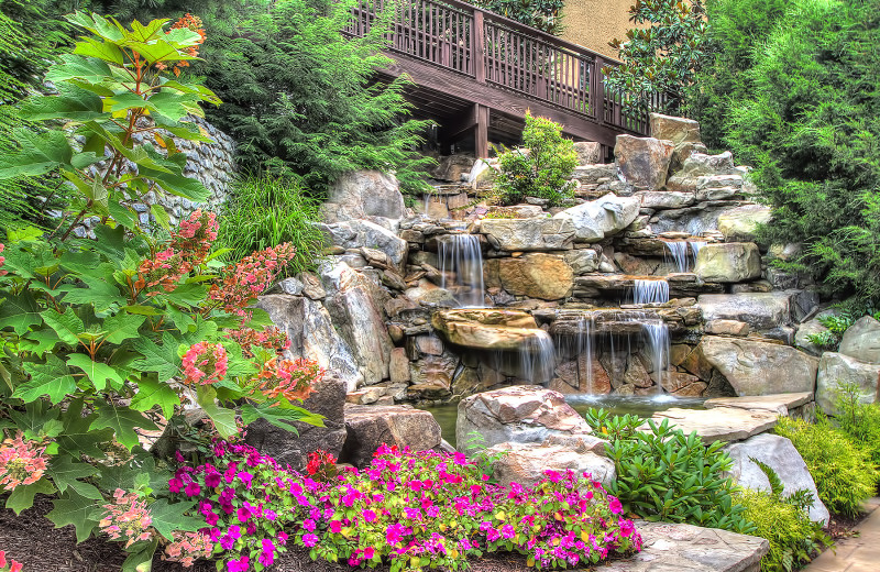 Waterfall entrance at Riverstone Resort & Spa.