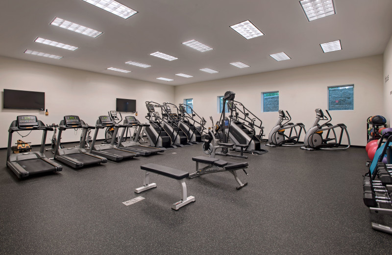 Fitness room at Eaglewood Resort & Spa.