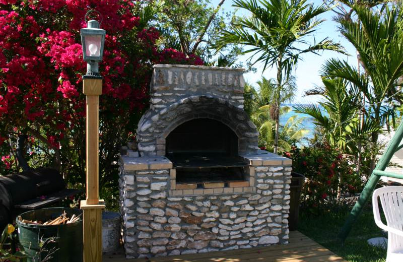 Outdoor grill at Orange Hill Beach Inn.