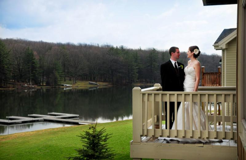 Wedding at Railey Mountain Lake Vacations.