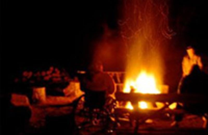 Bonfire by the Lake at Montfair Resort Farm near Charlottesville, VA