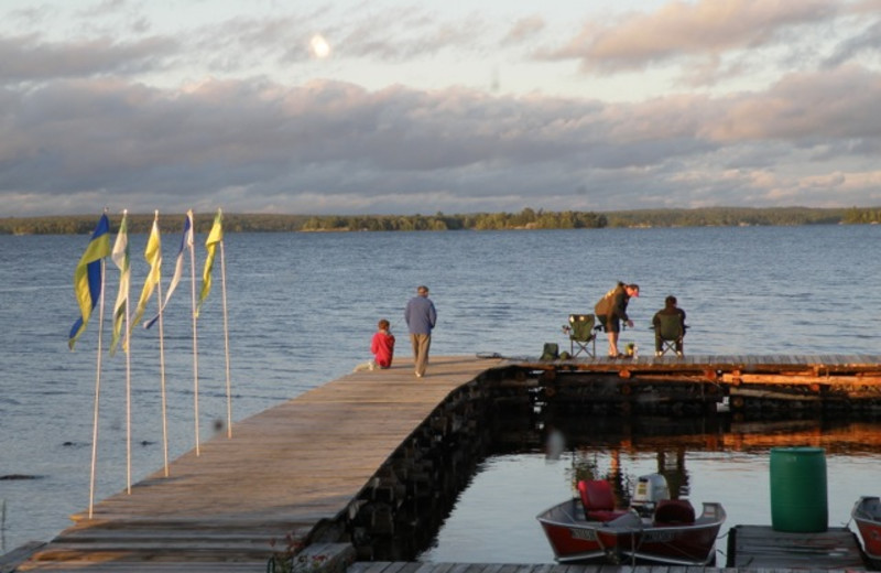 Fishing at Sandy Point Lodge.