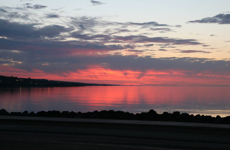 Sunset at Hampton Inn Duluth Canal Park.