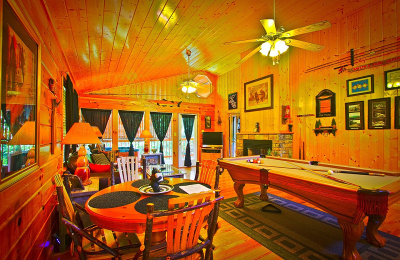 Cabin interior at Aunt Bug's Cabin Rentals, LLC.