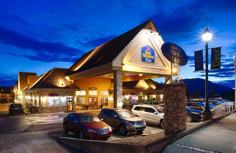 Exterior view of Best Western Plus Prestige Inn Radium Hot Springs.