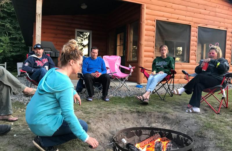 Bonfire at Lakewood Lodge.