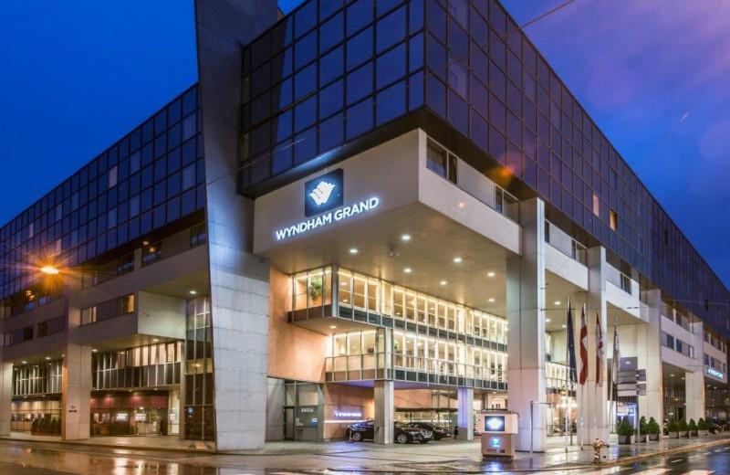 Exterior view of Wyndham Grand Salzburg Conference Center.