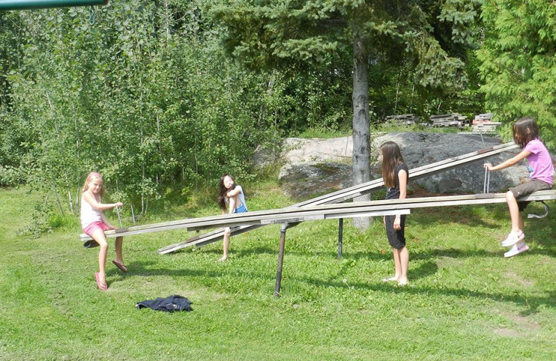 Teeter totter at Deluxe Camp.