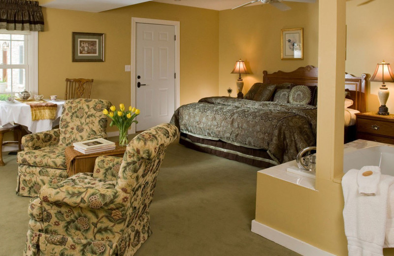 Guest room at Goldmoor Inn.
