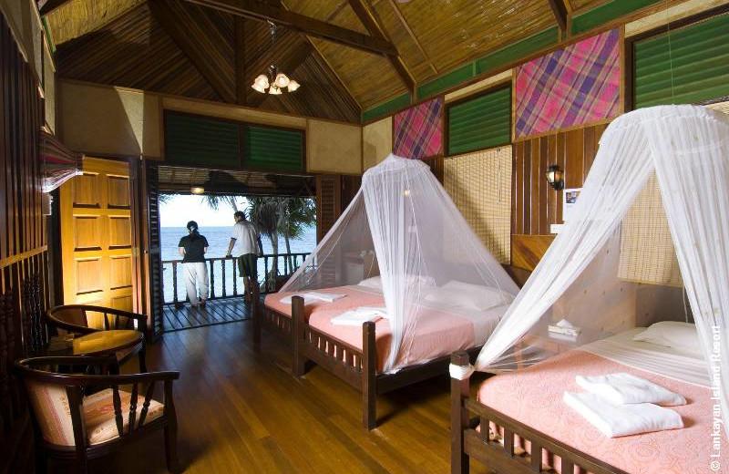 Guest room at Lankayan Island Resort.