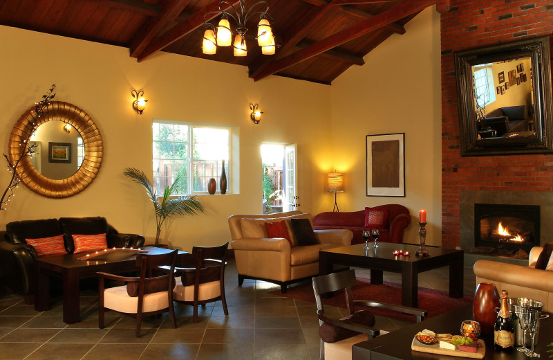 Lobby at West Sonoma Inn and Spa.