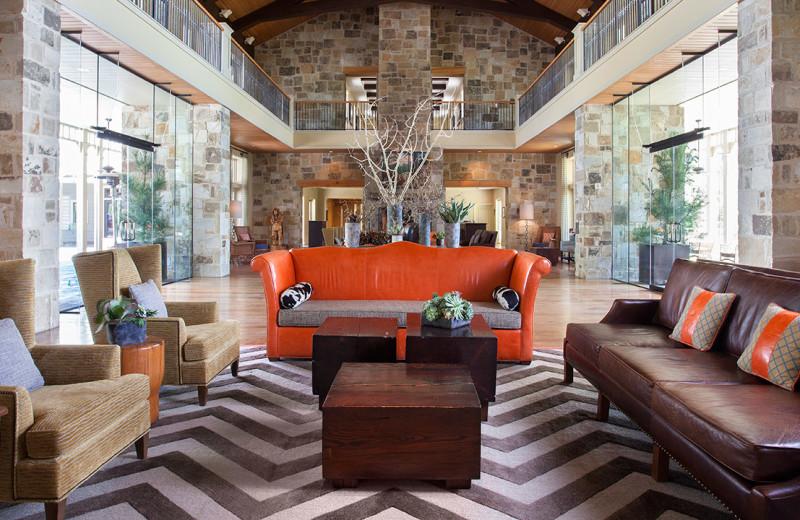 Lobby at Hyatt Regency Lost Pines Resort and Spa.