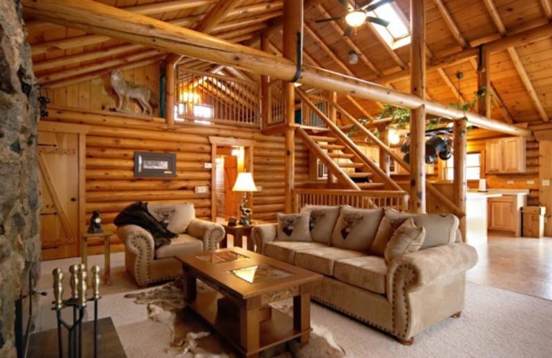 Cottage living room at Grand Cottages.